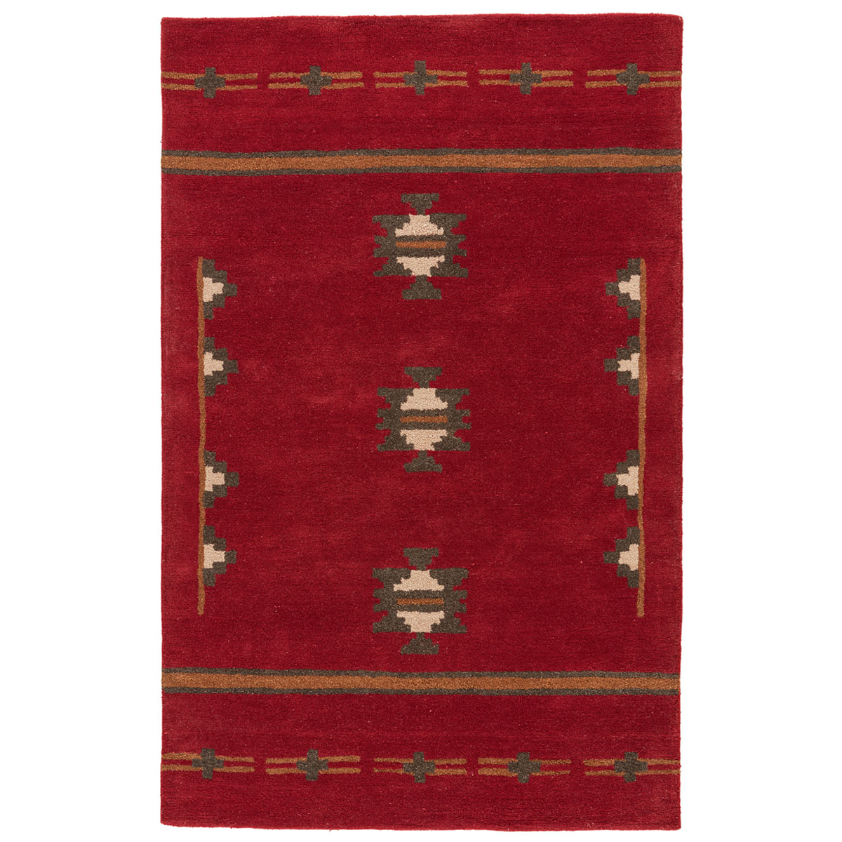 Crimson Cross Rug - 8 x 10