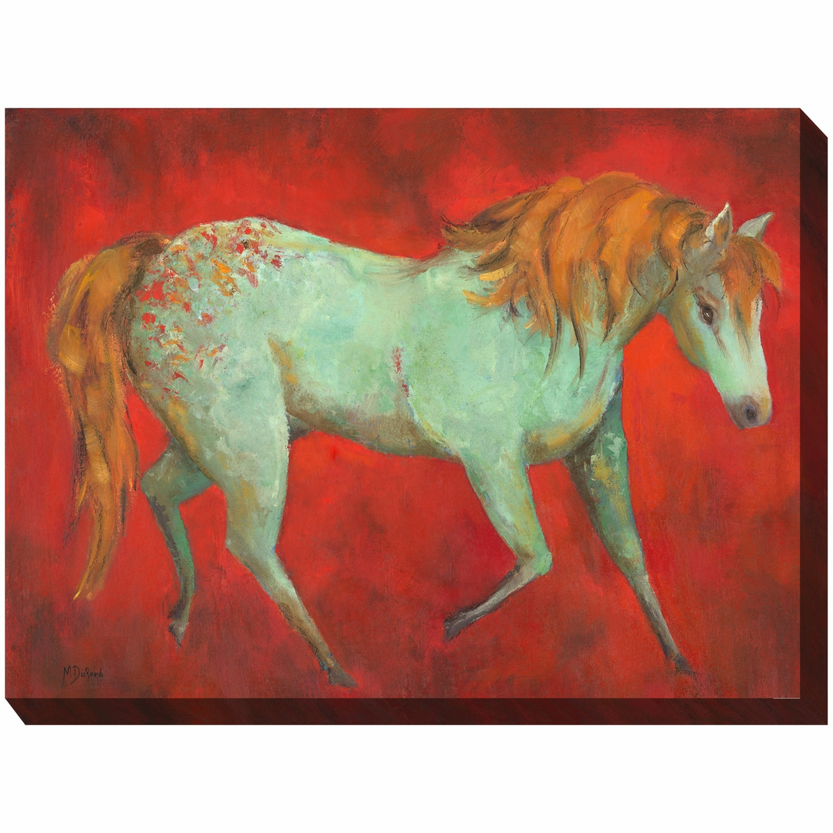 Crimson Steed Indoor/Outdoor Canvas Art