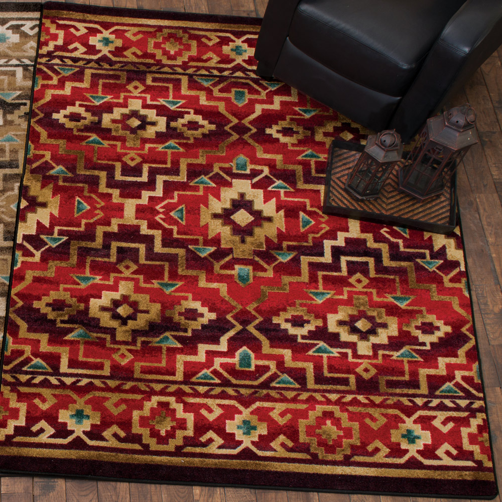 Crimson Trails Rug - 4 x 5