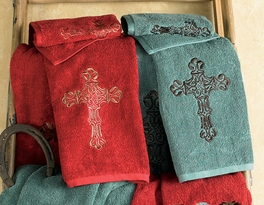 Cross Towel Sets - 3 pcs