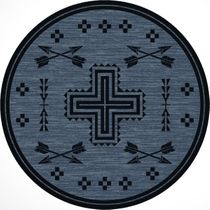 Crossed Arrows Flint Rug - 8 Ft. Round