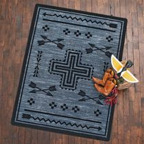Crossed Arrows Flint Rug - 8 x 11