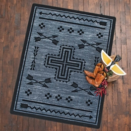 Crossed Arrows Flint Rug Collection