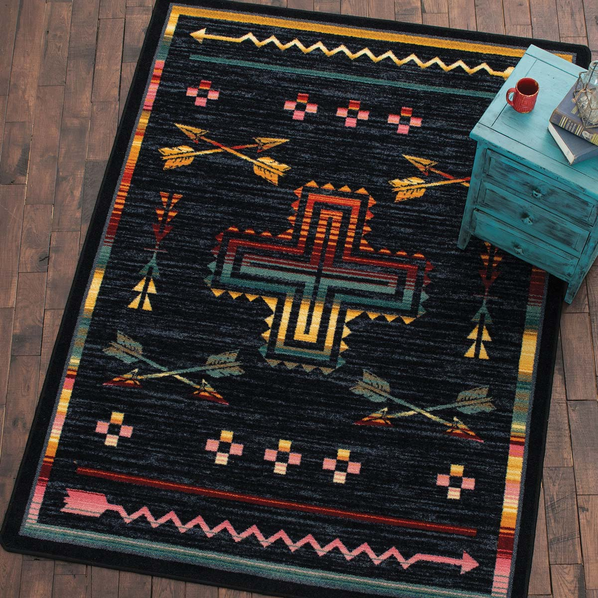 Crossed Arrows Rug - 2 x 8