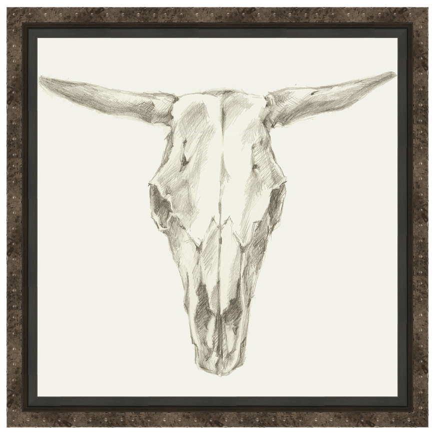 Custom Skull Mount II Framed Canvas