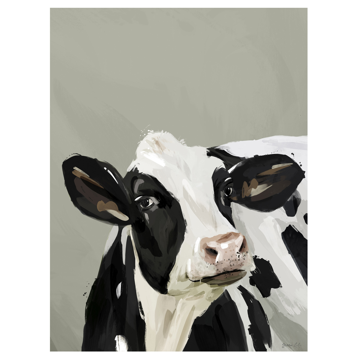 Daisy the Dairy Cow Canvas Art