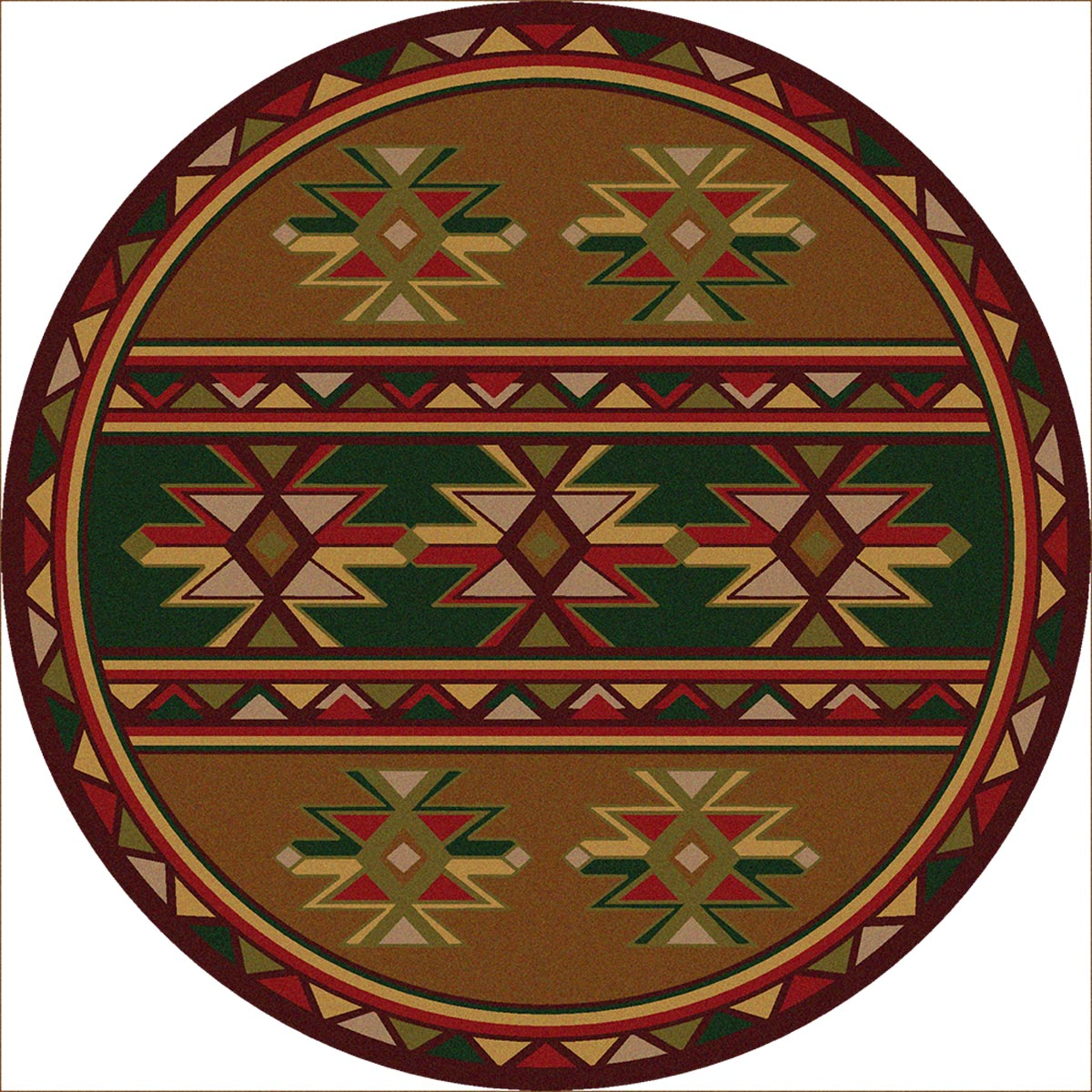 Southwest Rugs 8 Ft Round Dakota Star Rug Lone Star