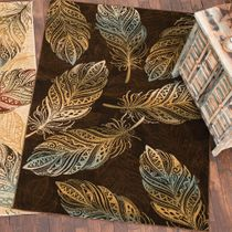 Dancing Feather Brown Rug - 2 x 8