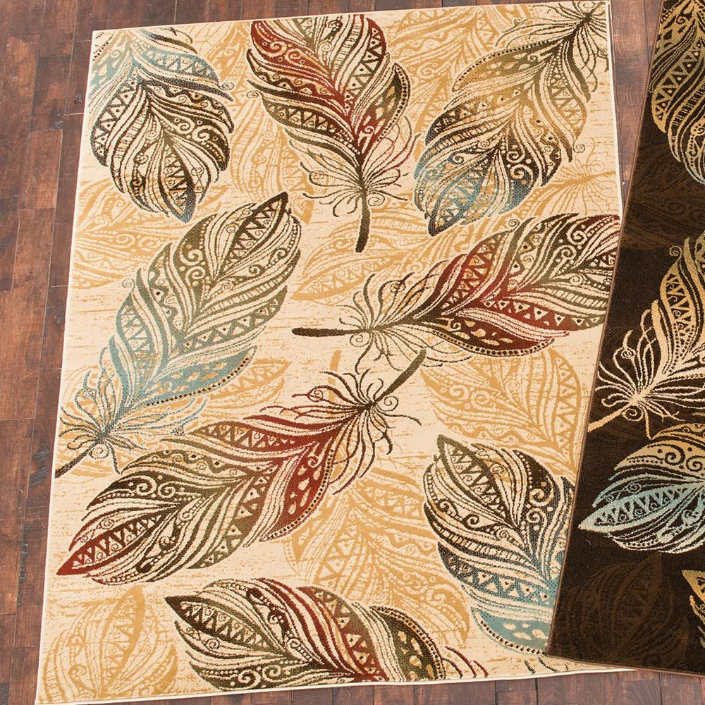 Dancing Feather Natural Rug - 2 x 3