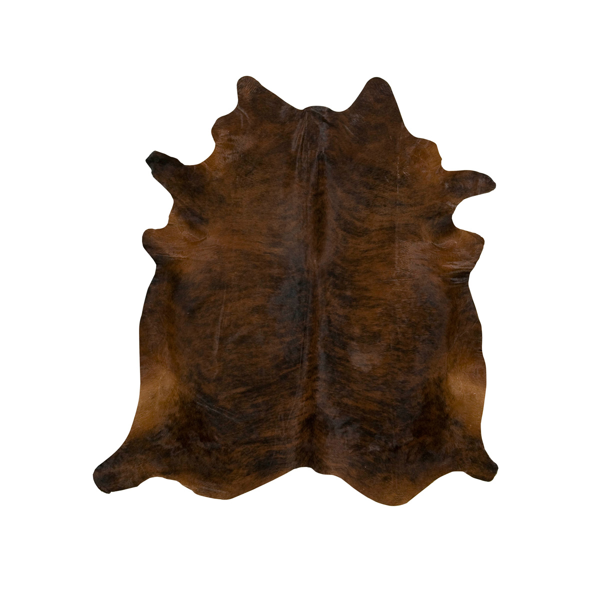 Dark Brindle Cowhide Rug - Extra Large