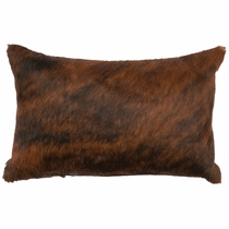 Dark Brindle Hair-on-Hide Rectangle Pillow