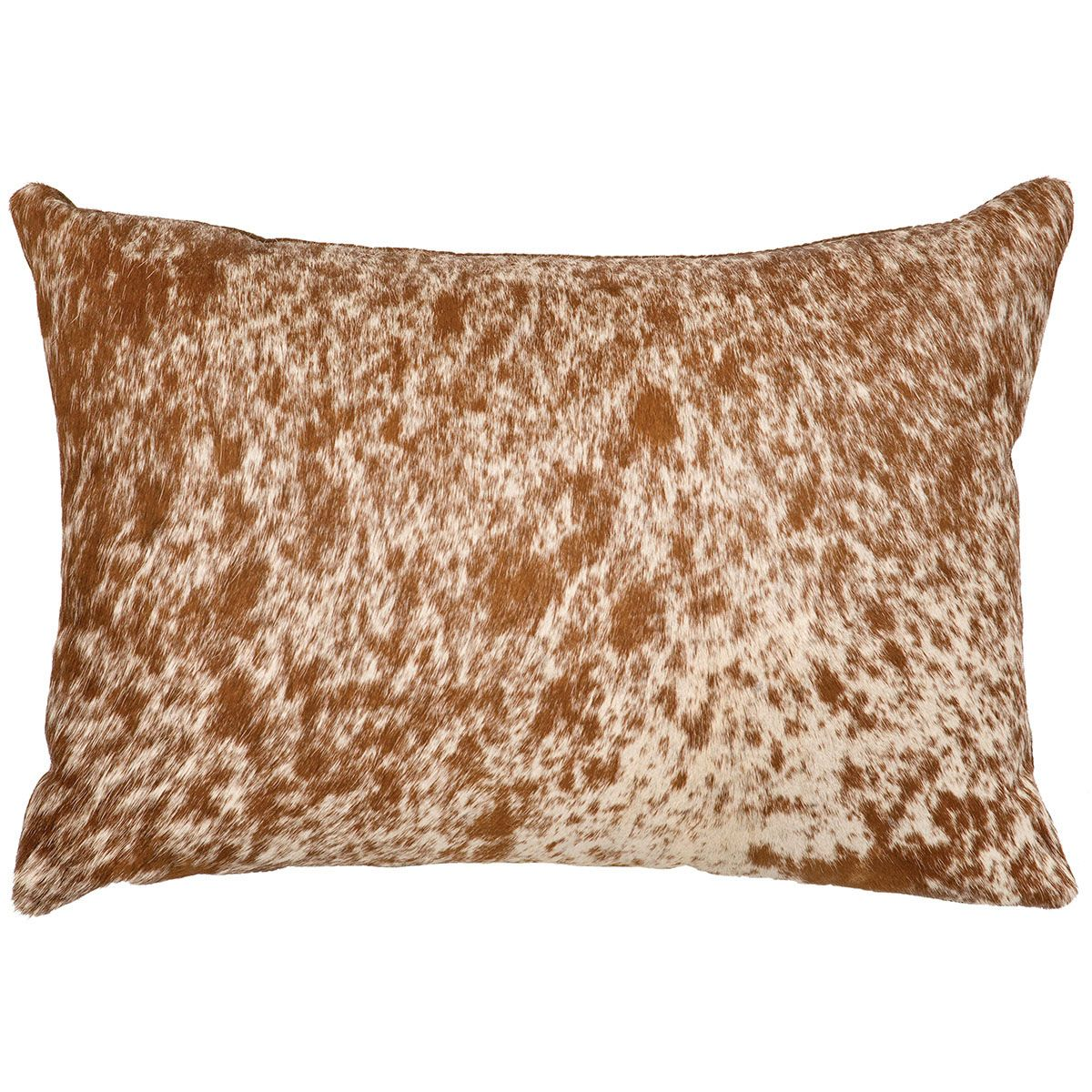 Dark Brown Speckled Hair on Hide Pillow