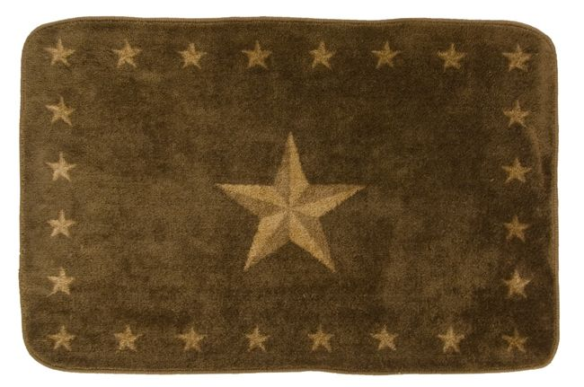 Dark Chocolate Star Bath Rug - 30 x 50