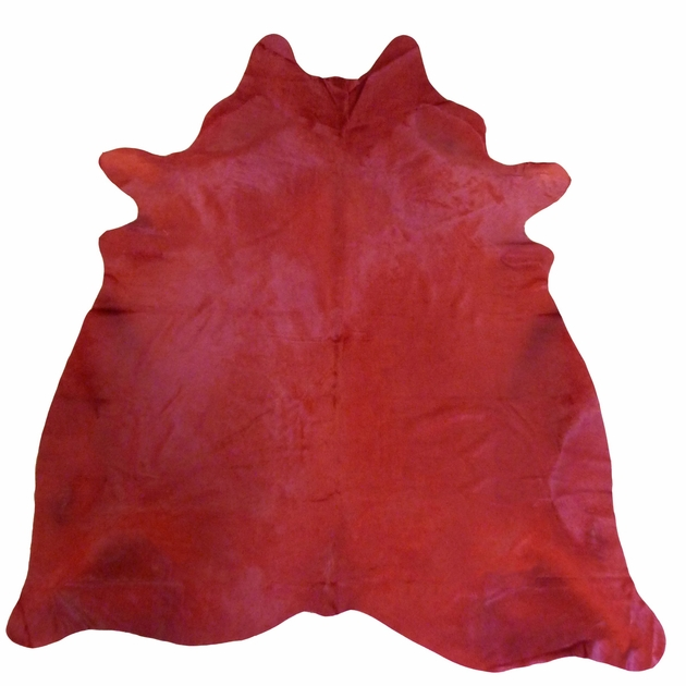 Dark Red Dyed Cowhide Extra Large