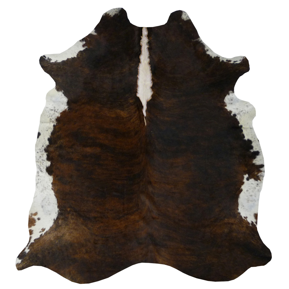 Dark Tri-Color Brindle Cowhide - Large