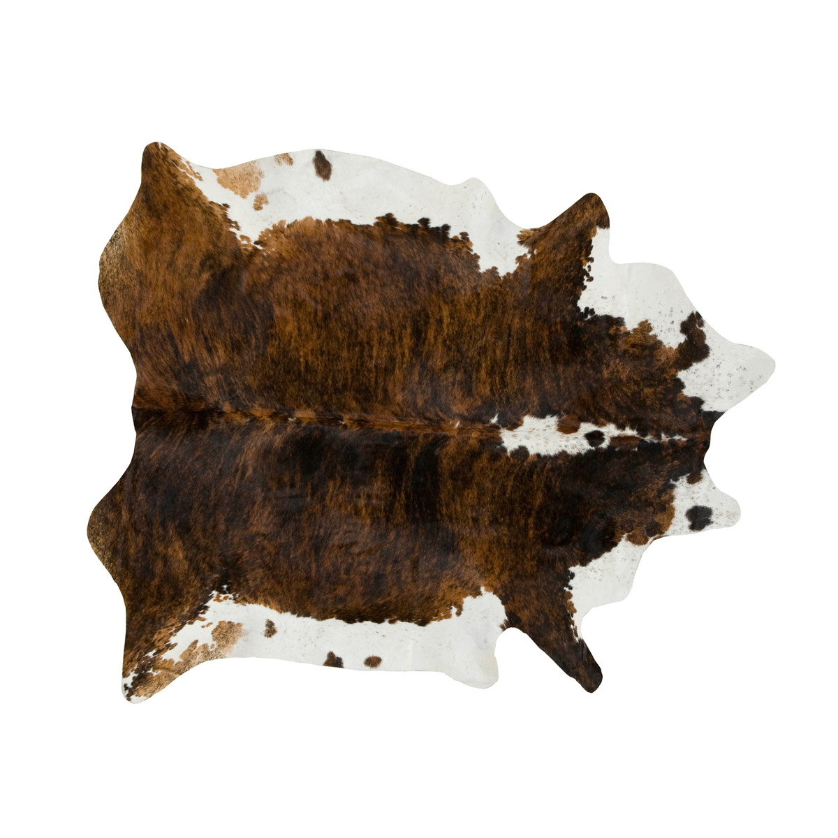 Dark Tri Color Special Cowhide Rug - Large