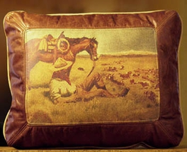 Day Herder Leather Pillow