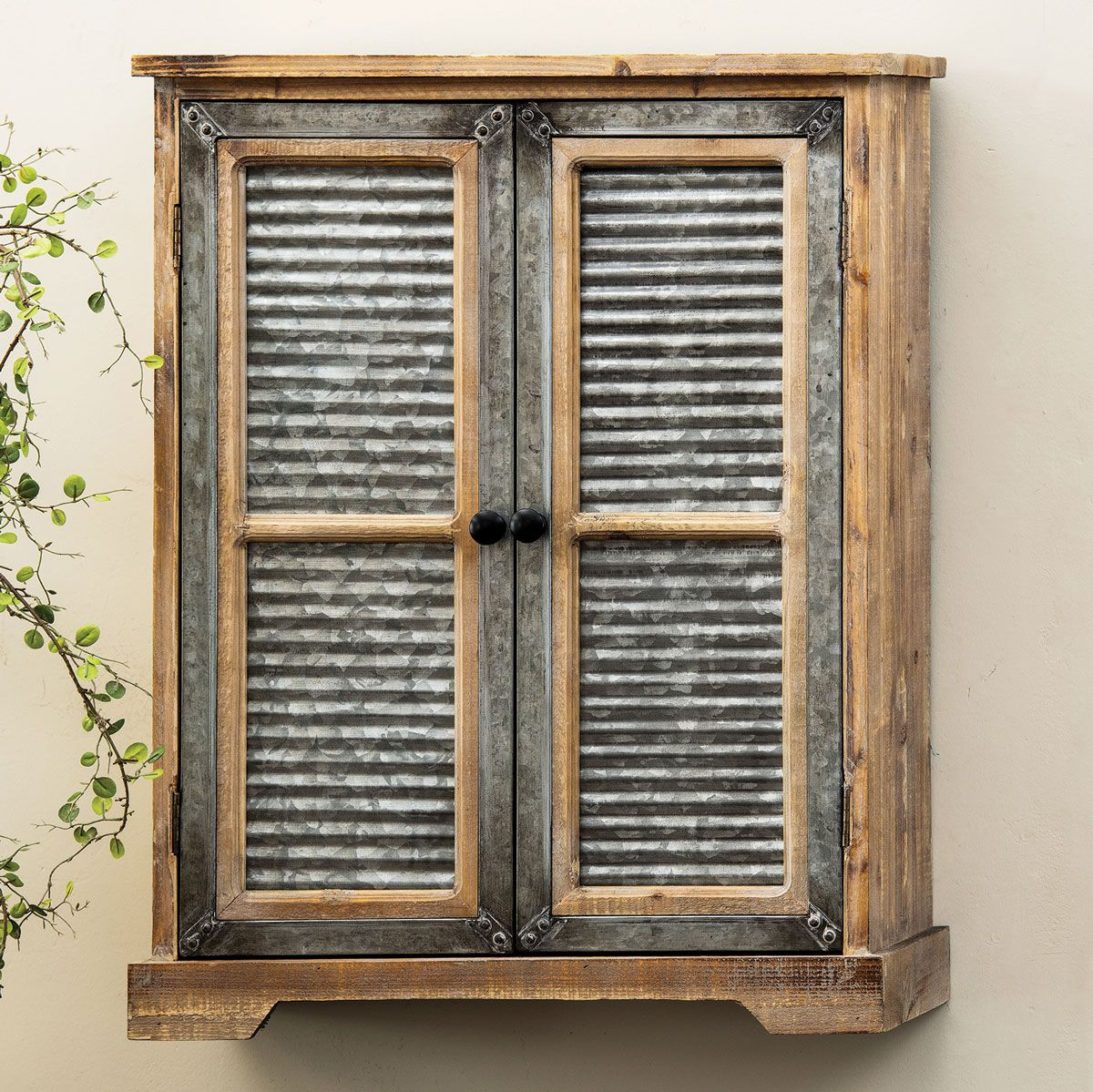 Deadwood Corrugated Metal Wall Cabinet - OUT OF STOCK