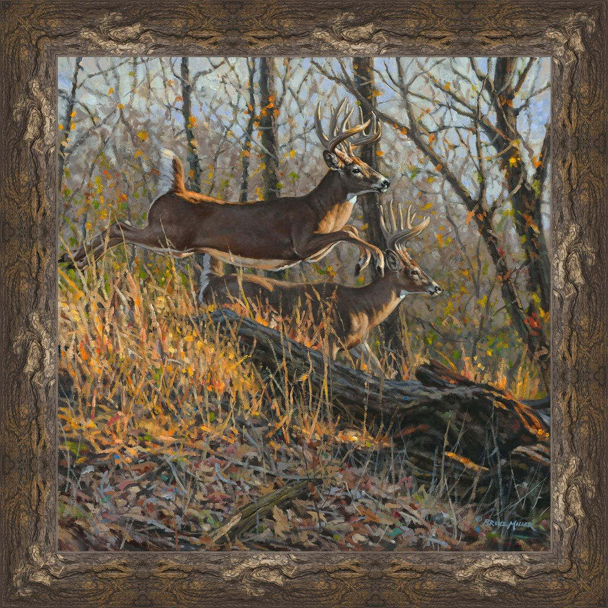 Deer Run Canvas Art