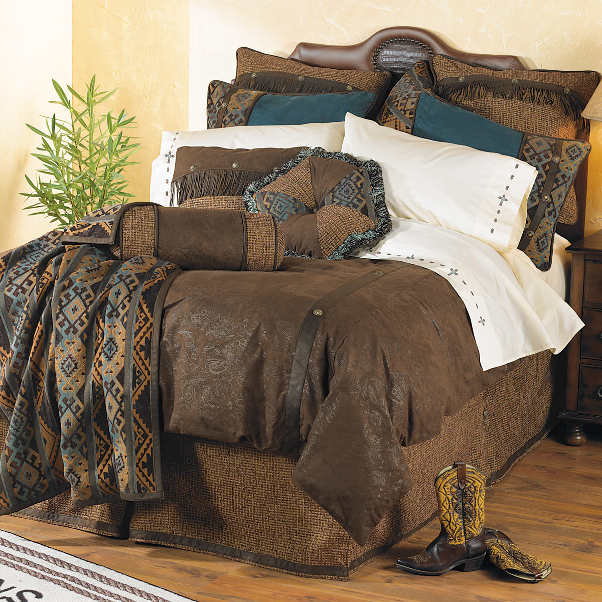 Western Bedding Queen Size Del Rio Bed Set Lone Star