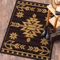 Desert Arrow Brown Rug - 8 x 10