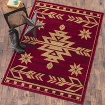 Desert Arrow Red Rug - 5 x 7