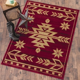 Desert Arrow Red Rug Collection