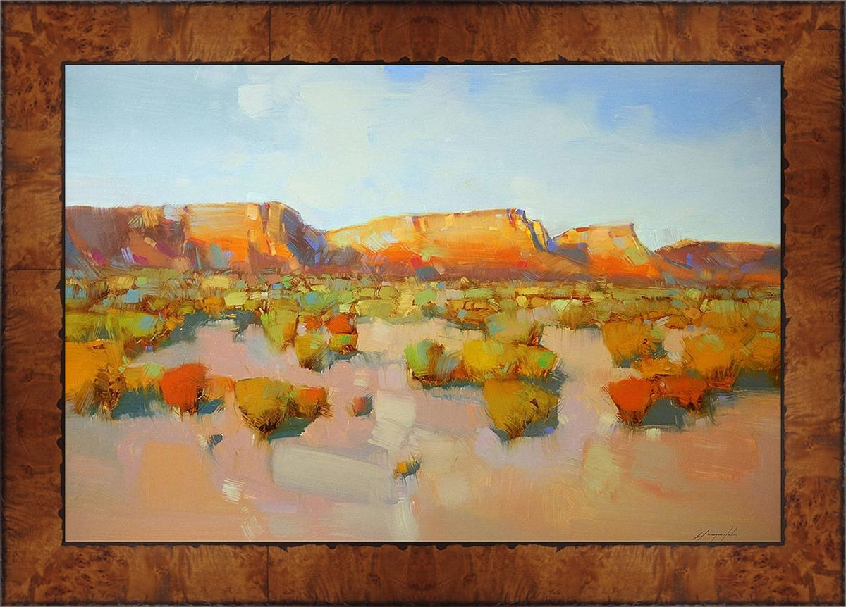 Desert Canyon Framed Canvas