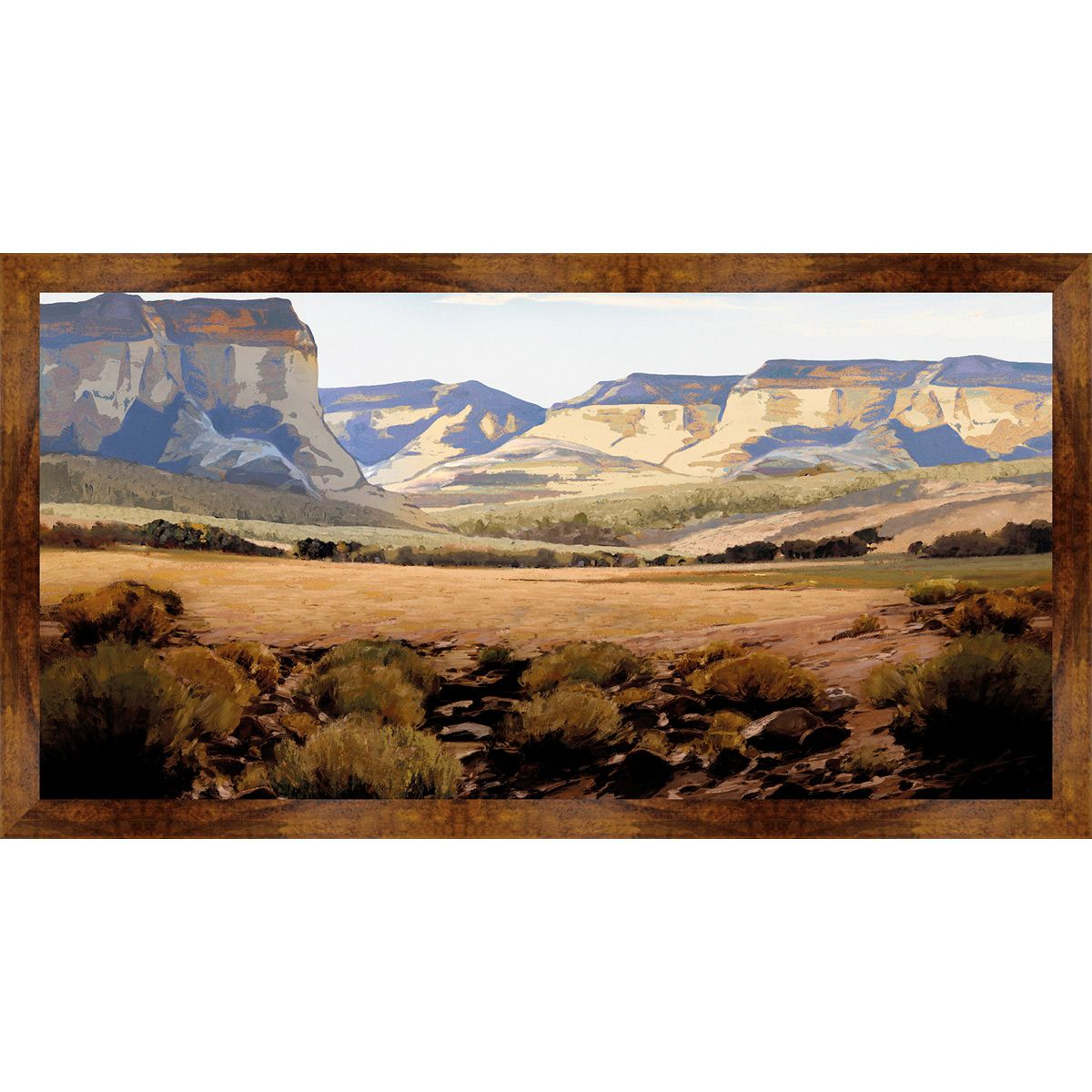 Desert Cliff Framed Canvas