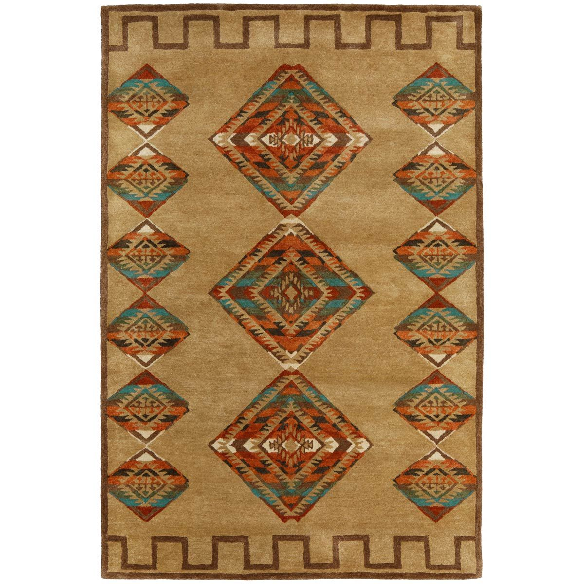 Desert Diamond Gold Rug - 4 x 6