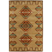 Desert Diamond Gold Rug - 6 x 9