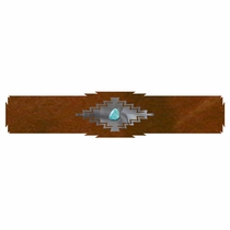 Desert Diamond Rug Rail with Turquoise - 18 Inch