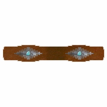 Desert Diamond Rug Rail with Turquoise - 24 Inch