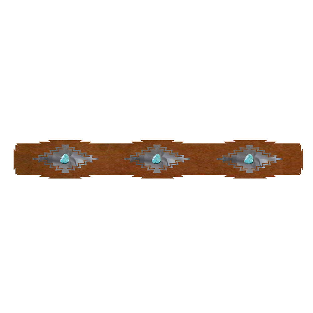 Desert Diamond Rug Rail with Turquoise - 30 Inch