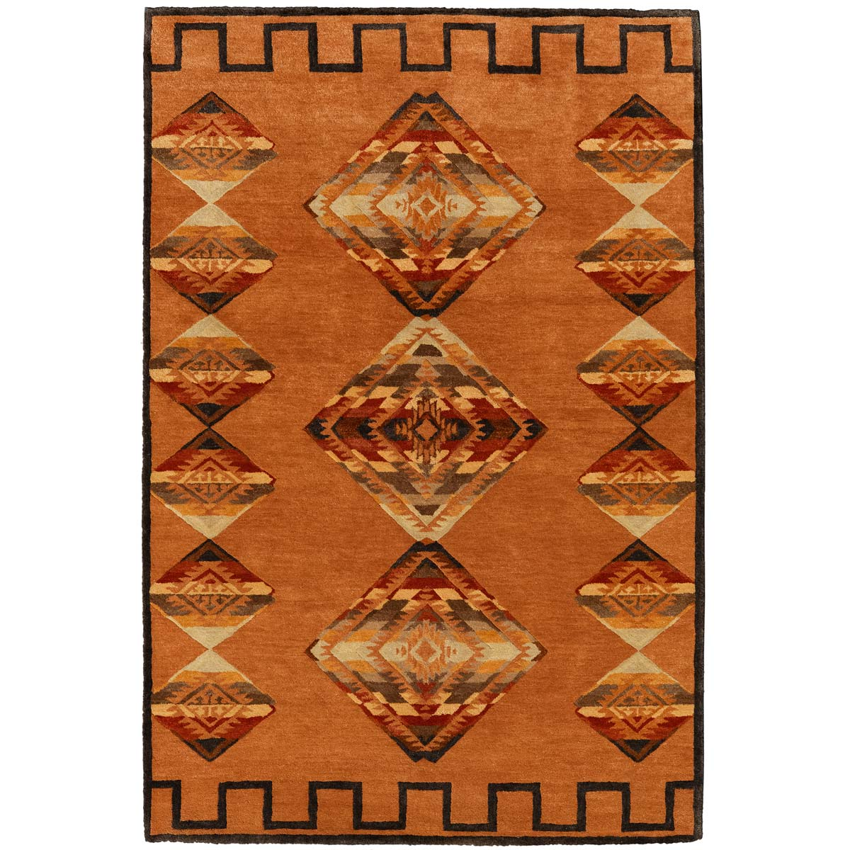 Desert Diamond Terra Cotta Rug - 6 x 9