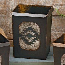 Tribal Diamond Waste Basket
