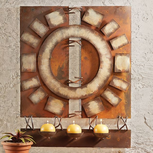 Desert Decor Western Espagne: Rustic Metal Wall Art: Desert Fire Metal Art Wall Hanging