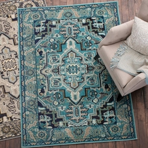 Desert Floral Turquoise Rug - 8 x 10