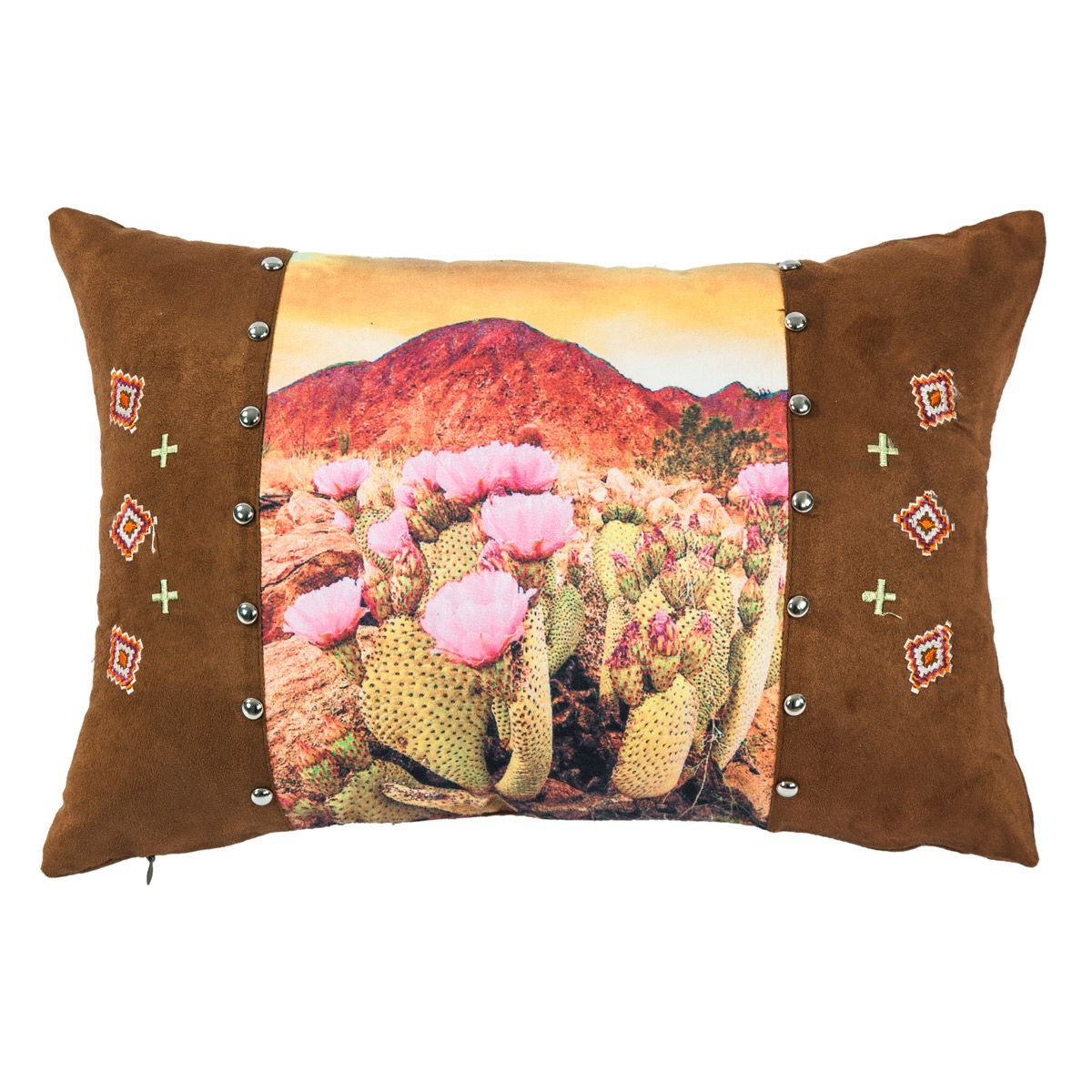 Desert Flowers Pillow with Stud Details