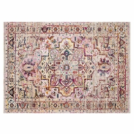 Desert Glow Maroon & Ivory Rug Collection
