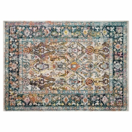 Desert Glow Stone & Teal Rug Collection