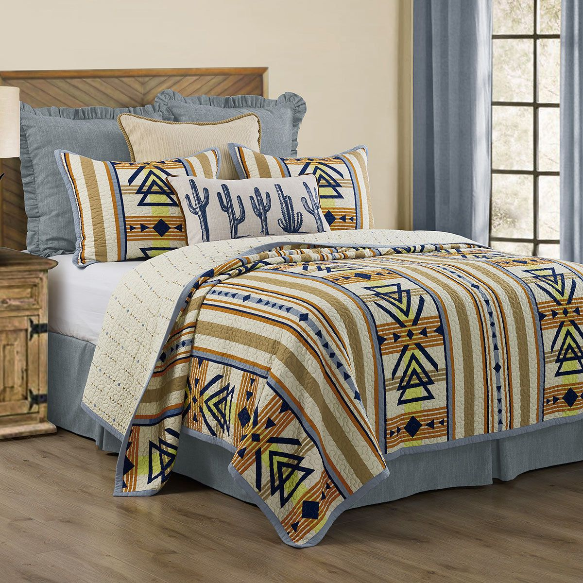 Desert Lines Quilt Set - Full/Queen