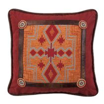 Desert Maze Beaded Square Pillow