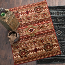 Desert Night Southwestern Red Rust Rug Collection