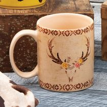 Desert Rose Skull Mugs - Set of 4