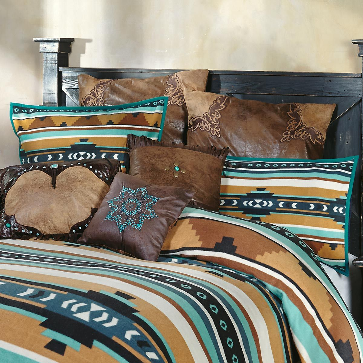 Desert Springs Turquoise Southwestern Shams (Set of 2)