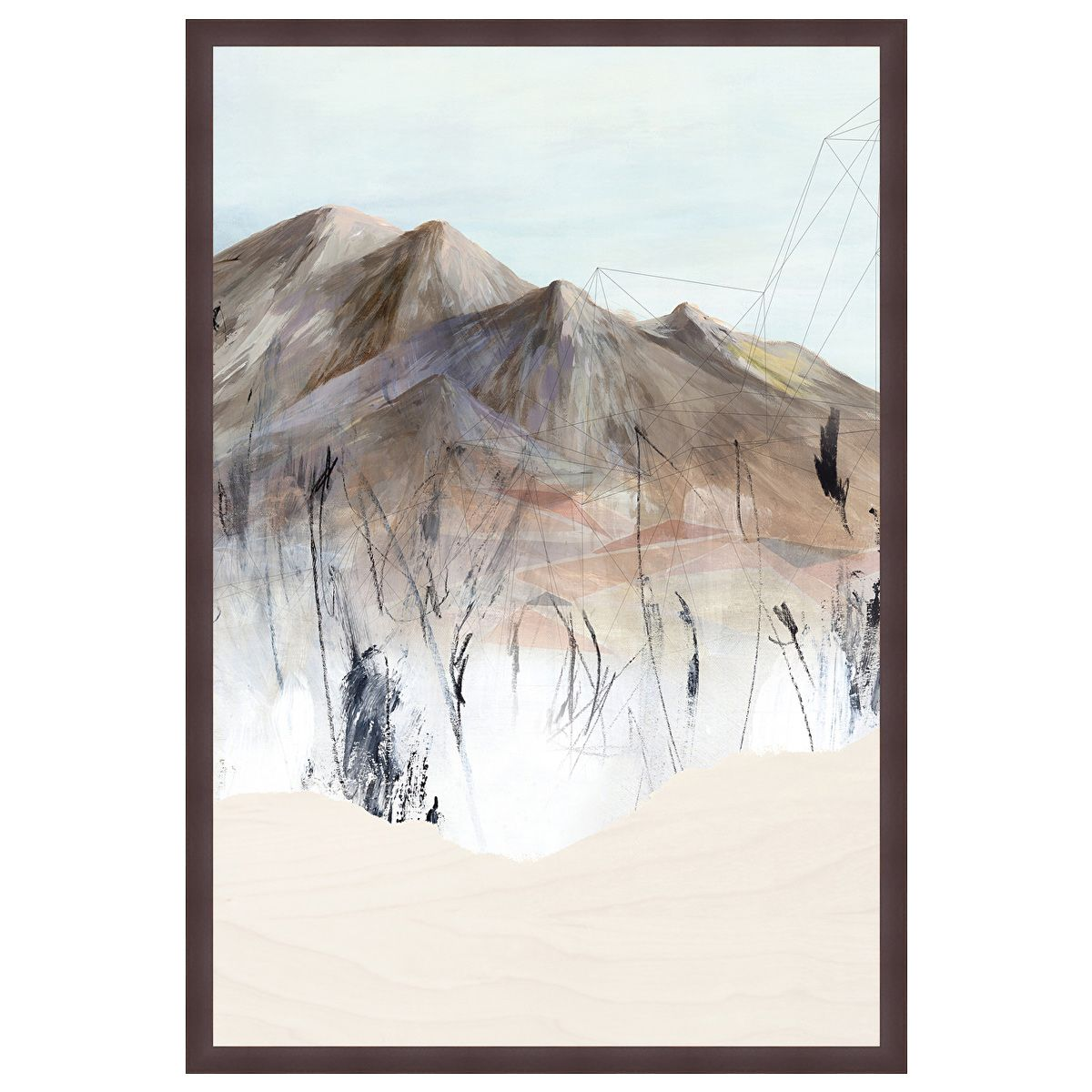 Deserted Mountain Village I Framed Canvas
