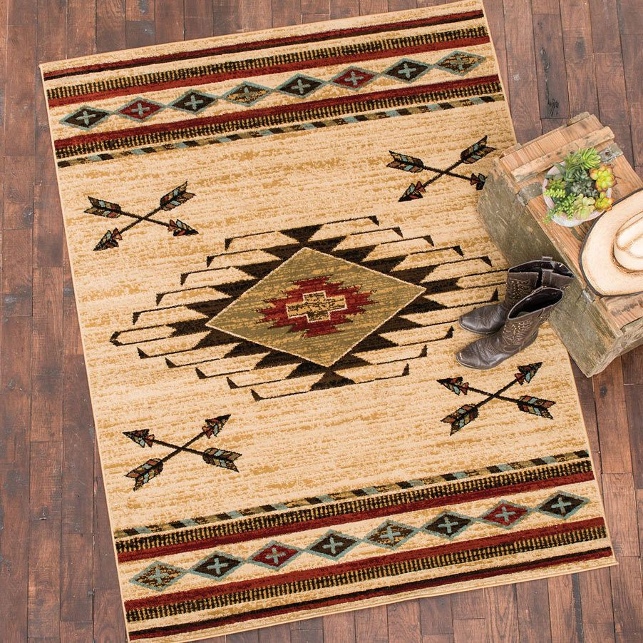 Diamond Arrow Beige Rug -�2 x 8
