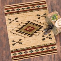 Diamond Arrow Beige Rug -�5 x 8