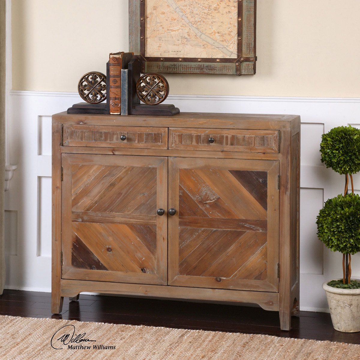 Diamond Arrow Distressed Console